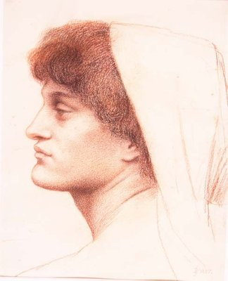 Profile of a Female Head, 1885 Fine Art Print by Evelyn De Morgan