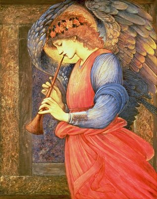 An Angel Playing a Flageolet, 1878 Poster Art Print by Sir Edward Burne-Jones