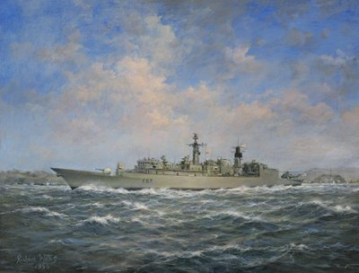 H.M.S. Chatham Type 22 Fine Art Print by Richard Willis
