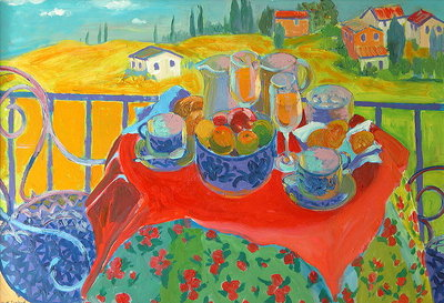 Tuscan Terrace Fine Art Print by William Ireland