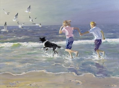 The Chase (oil on board) Wall Art & Canvas Prints by William Ireland
