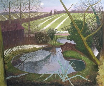 Winter Evening Fine Art Print by John Northcote Nash