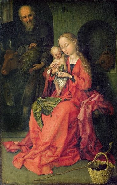 The Holy Family, c.1480-90 (oil on panel) Wall Art & Canvas Prints by Martin Schongauer