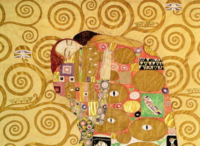 Fulfilment (Stoclet Frieze) c.1905-09 (tempera, w/c) (detail of 65884) Postcards, Greetings Cards, Art Prints, Canvas, Framed Pictures, T-shirts & Wall Art by Gustav Klimt
