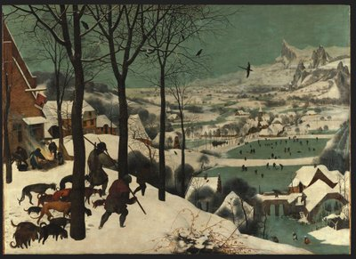 Hunters in the Snow - january, 1565 Poster Art Print by Pieter the Elder Bruegel