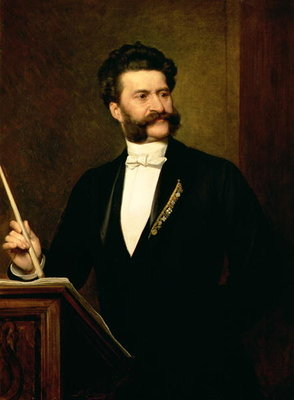 Johann Strauss the Younger, 1888 Wall Art & Canvas Prints by August Eisenmenger
