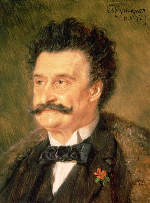 Johann Strauss the Younger, 1895 Fine Art Print by Eduard Grutzner