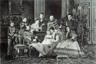 Family Portrait of Emperor Alexander II Fine Art Print by Russian Photographer
