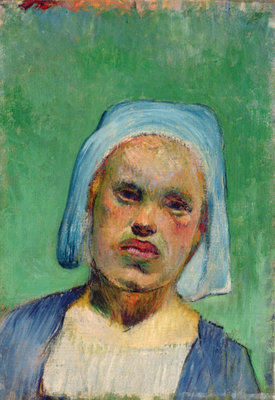 Head of a Breton Fine Art Print by Paul Gauguin