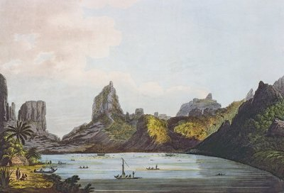 View of the Harbour of Taloo in the Island of Eimeo, from 'Views in the South Seas', pub. 1789 (etching) Postcards, Greetings Cards, Art Prints, Canvas, Framed Pictures & Wall Art by John Webber