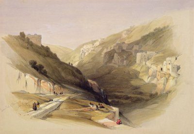 The Pool of Siloam, from Volume II of 'The Holy Land'; engraved by Louis Haghe Fine Art Print by David Roberts