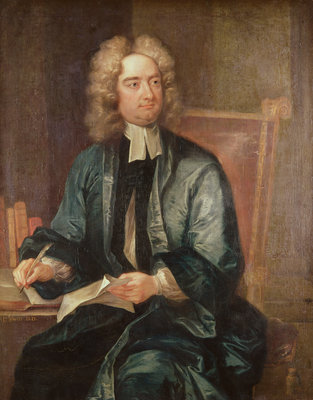 Portrait of Jonathan Swift (1667-1745) c.1718 (oil on canvas) Postcards, Greetings Cards, Art Prints, Canvas, Framed Pictures, T-shirts & Wall Art by Charles Jervas