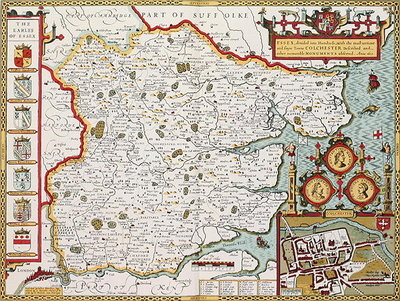 Essex, engraved by Jodocus Hondius Fine Art Print by John Speed