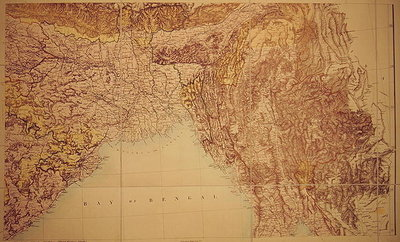 Map of the Bay of Bengal, 1898 (colour litho) Wall Art & Canvas Prints by English School