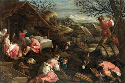 Winter Poster Art Print by Jacopo Bassano
