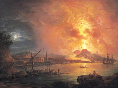 The Eruption of Vesuvius Fine Art Print by Jean Baptiste Genillion