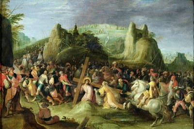 Christ on the Road to Calvary Fine Art Print by Frans II the Younger Francken