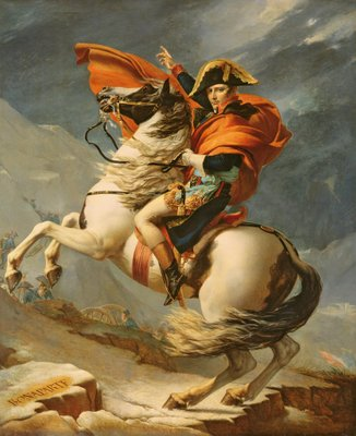 Napoleon Crossing the Alps on 20th May 1800, 1803 Poster Art Print by Jacques Louis David