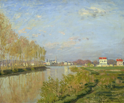 The Seine at Argenteuil, 1873 Fine Art Print by Claude Monet