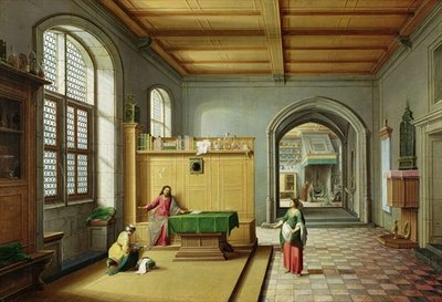 Christ in the House of Martha and Mary Fine Art Print by Hendrik van Steenwyk