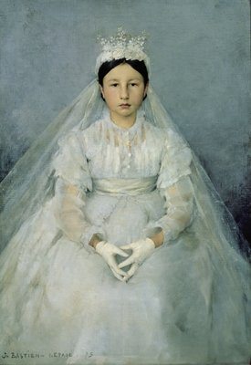 The Young Communicant, 1875 (oil on canvas) Wall Art & Canvas Prints by Jules Bastien-Lepage