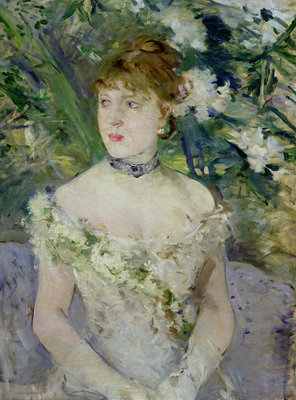 Young girl in a ball gown, 1879 Poster Art Print by Berthe Morisot