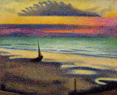 The Beach at Heist, 1891-92 (oil on canvas) Fine Art Print by Georges Lemmen