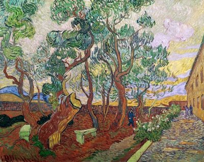 The Garden of St. Paul's Hospital at St. Remy, 1889 (oil on canvas) Fine Art Print by Vincent van Gogh