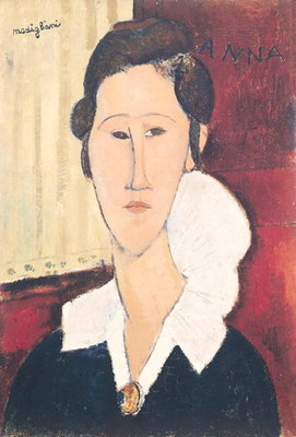 Portrait of Madame Hanka Zborowska, 1917 Fine Art Print by Amedeo Modigliani