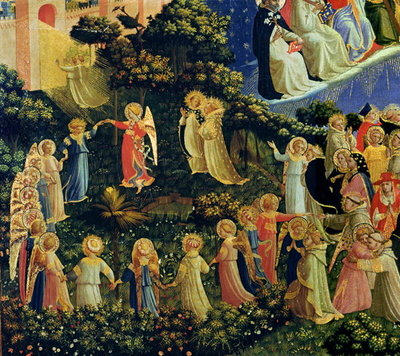 The Last Judgement (tempera on panel) (detail) Postcards, Greetings Cards, Art Prints, Canvas, Framed Pictures & Wall Art by Fra Angelico