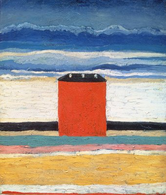 Red House, 1932 Poster Art Print by Kazimir Severinovich Malevich