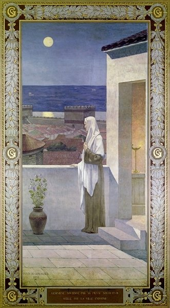 St. Genevieve Watches Over the Sleeping City of Paris, 1898 (oil on canvas) Wall Art & Canvas Prints by Pierre Puvis de Chavannes