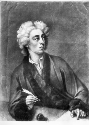 Portrait of Alexander Pope (1686-1744) (engraving) (b/w photo) Wall Art & Canvas Prints by Michael Dahl