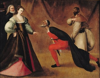 Scene from a Play (oil on canvas) (see 155537 for detail) Fine Art Print by French School