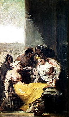 St. Isabella Caring for the Lepers Fine Art Print by Francisco Jose de Goya y Lucientes
