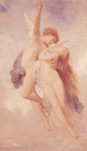 Cupid and Psyche, 1889 (oil on canvas) Fine Art Print by William-Adolphe Bouguereau