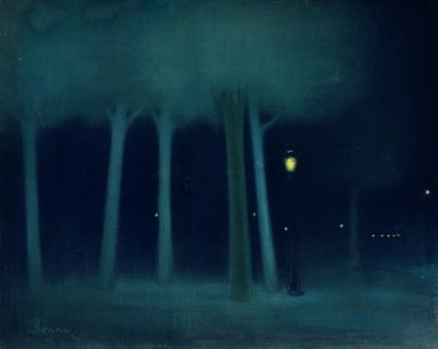 A Park at Night, c.1892-95 (pastel on canvas) Wall Art & Canvas Prints by Jozsef Rippl-Ronai