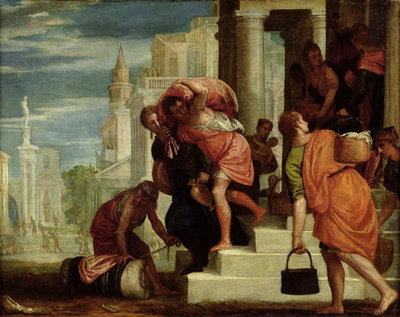 The Flight of the Israelites out of Egypt (oil on canvas) Wall Art & Canvas Prints by Benedetto Caliari