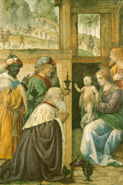 Adoration of the Magi (fresco) Wall Art & Canvas Prints by Bernardino Luini