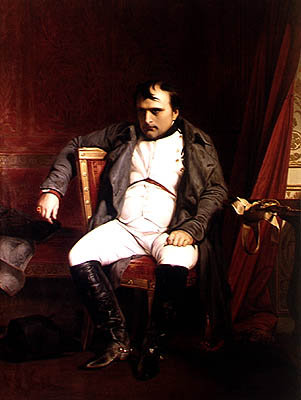 Napoleon (1769-1821) after his Abdication (oil on canvas) Fine Art Print by Hippolyte Delaroche