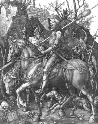 Knight, Death and the Devil, 1513 (engraving) Fine Art Print by Albrecht Dürer or Duerer