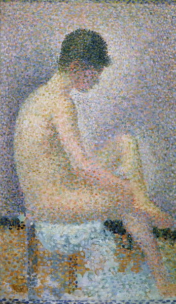 Model in Profile, 1886 Fine Art Print by Georges Seurat