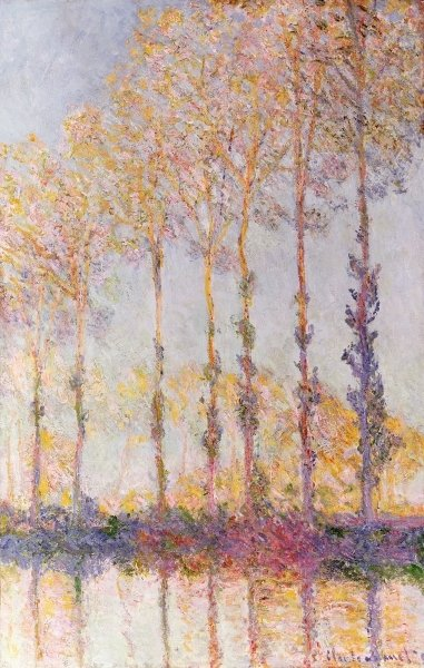 Poplars on the Banks of the Epte, 1891 Fine Art Print by Claude Monet