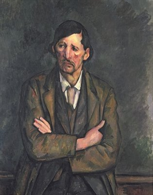 Man with Crossed Arms, c.1899 (oil on canvas) Wall Art & Canvas Prints by Paul Cezanne