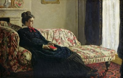 Meditation, or Madame Monet on the Sofa, c.1871 Fine Art Print by Claude Monet