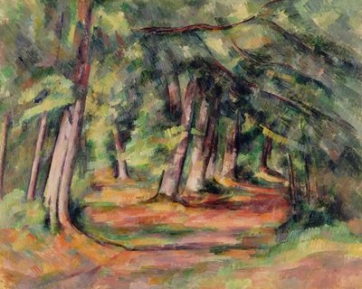 Sous-bois (pres du Jas de Bouffan) 1890-94 (oil on canvas) Fine Art Print by Paul Cezanne