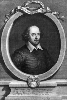 Portrait of William Shakespeare Fine Art Print by George Vertue