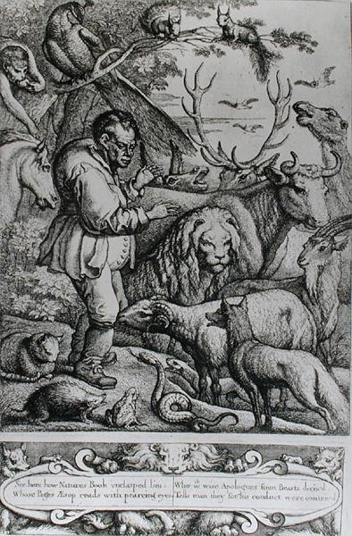 Illustration from the Introduction to Aesop's Fables, 1666 Fine Art Print by Francis Barlow