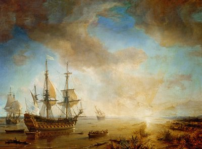 Expedition of Robert Cavelier de La Salle (1643-87) in Louisiana in 1684, 1844 (oil on canvas) Fine Art Print by Jean Antoine Theodore Gudin