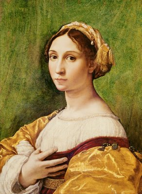 Portrait of a Young Girl Fine Art Print by Raphael